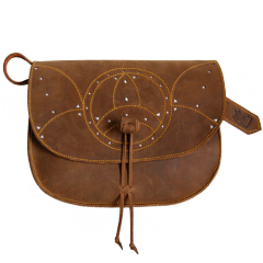 Split leather handbag