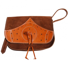 Heifer and split leather handbag